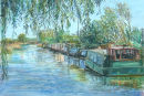 Halsall Moorings, Leeds to Liverpool Canal, Lancashire Prints Only