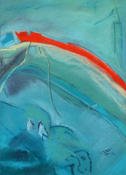 Aerial Sea View I (Pastel)