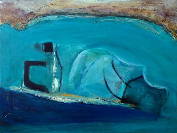 Aerial Sea View II (Oil)
