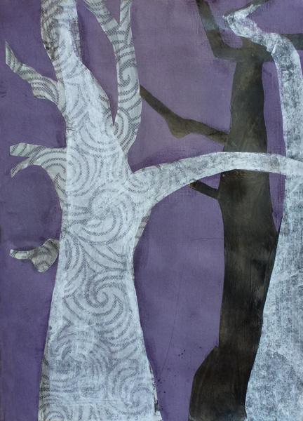 """Baobab Letter """"H"""" (Collage)"""