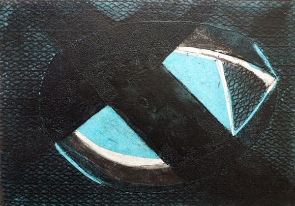 Menorcan Shadow I (Collograph)