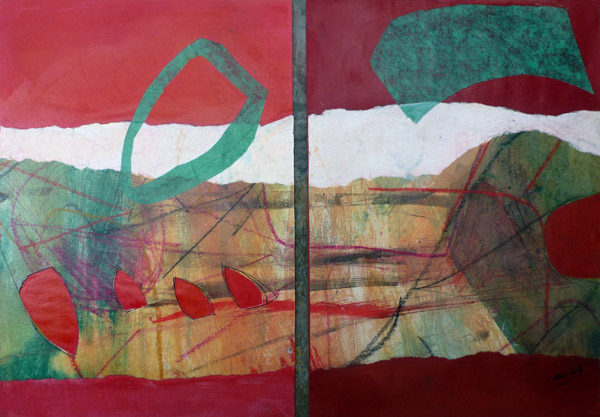 Porthleven III Diptych Collage