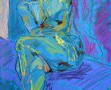 Seated Figure on Purple Cushion