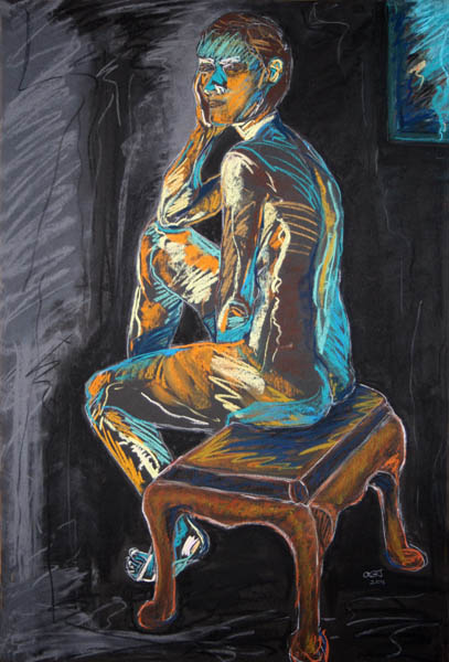 Seated Figure with Footstool