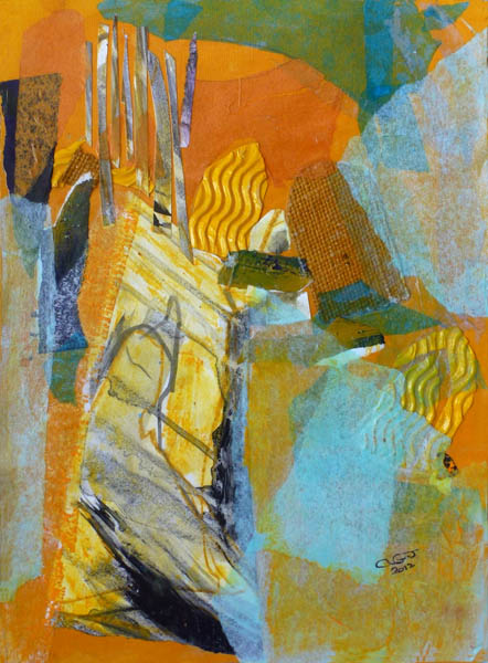 Sunlit Churchyard (Collage)