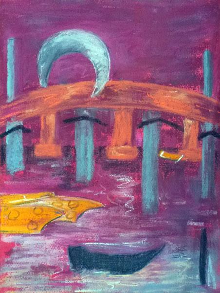 Thames View (Pastel)
