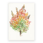 autumnal tree watercolor painting
