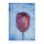 blue tulip print