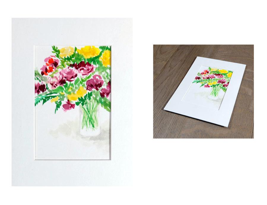 original watercolor floral painting