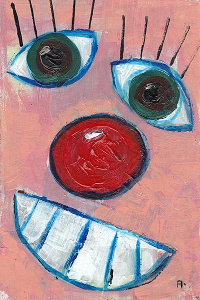 Clown Face art