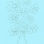 floral drawing minimal minimalist painting sketch sunflowers