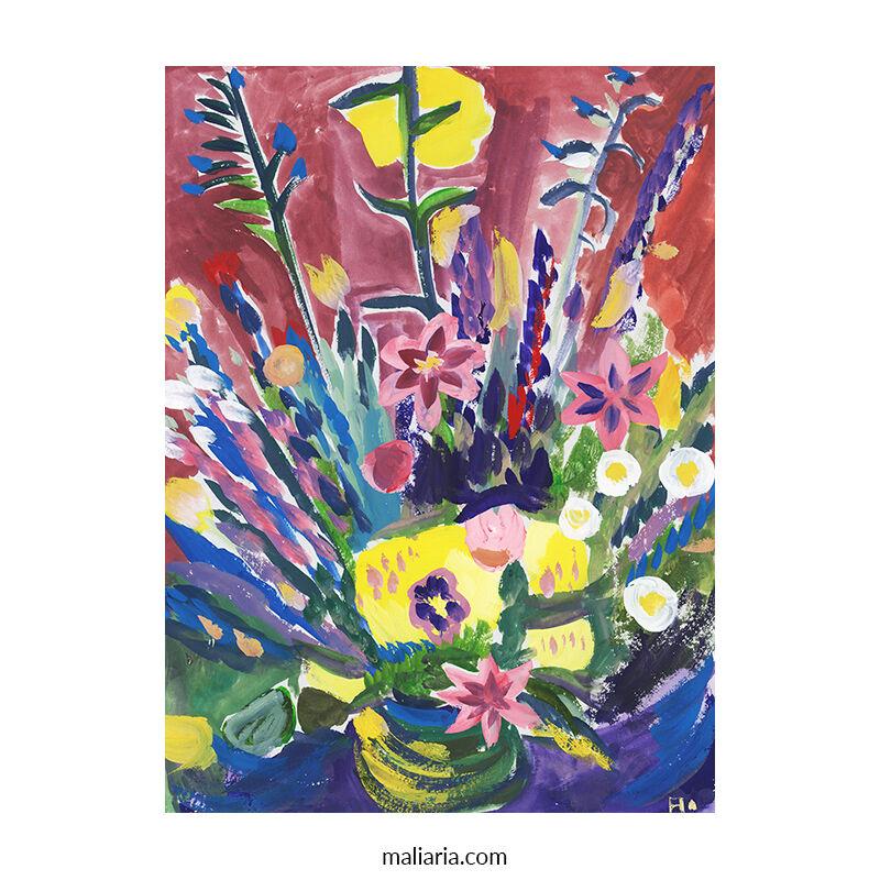 flowers in a vase painting buy art online