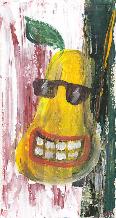 pear painting pop art