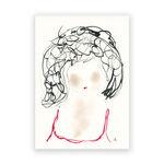 face-portrait-mixed-media-drawing-original-art