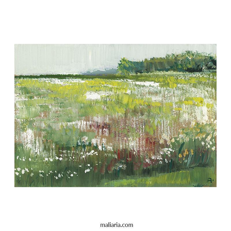 meadow painting impressionism art anton maliar buy online