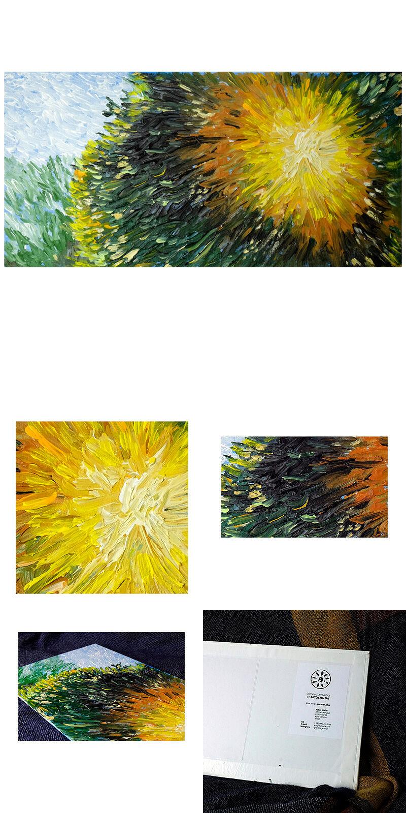 Sunset sun impressionism original painting for sale