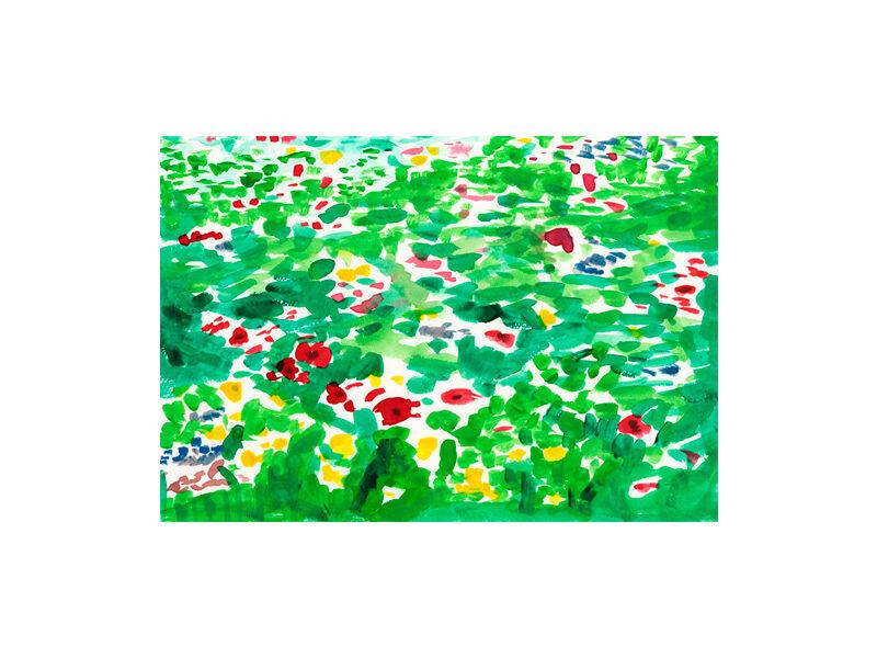 Running Among Flowers