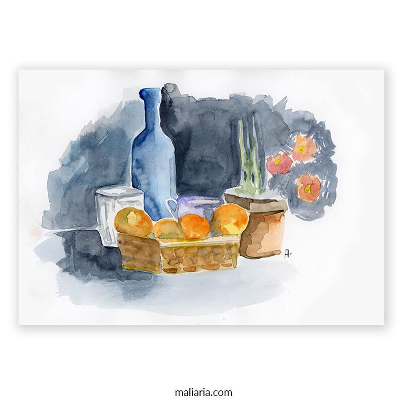 watercolor still life painting on paper anton maliar buy art online