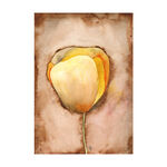 yellow tulip watercolor painting