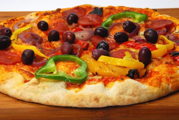 Pizza uncut