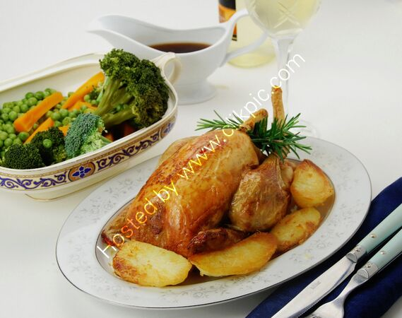 TABLE VIEW ROAST CHICKEN
