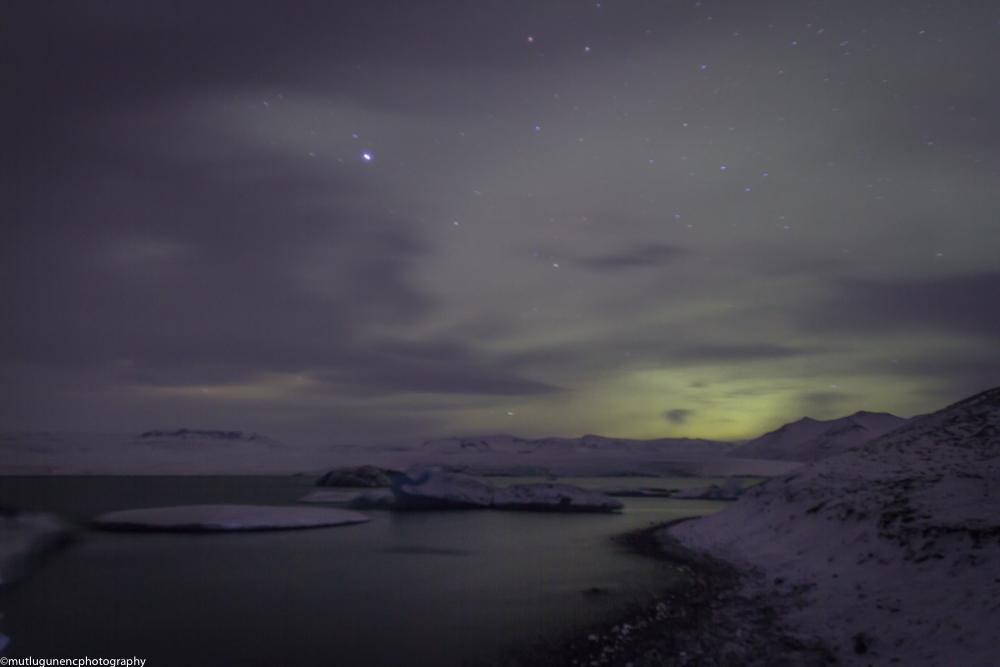 Northern lights in Jokulsarlon 1