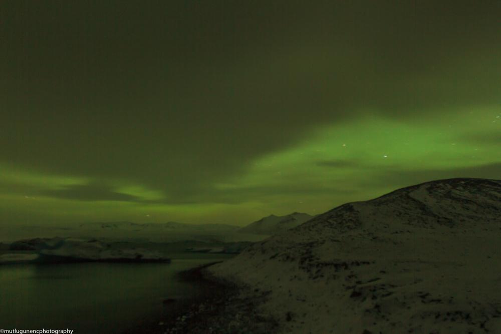 Northern lights in Jokulsarlon 2