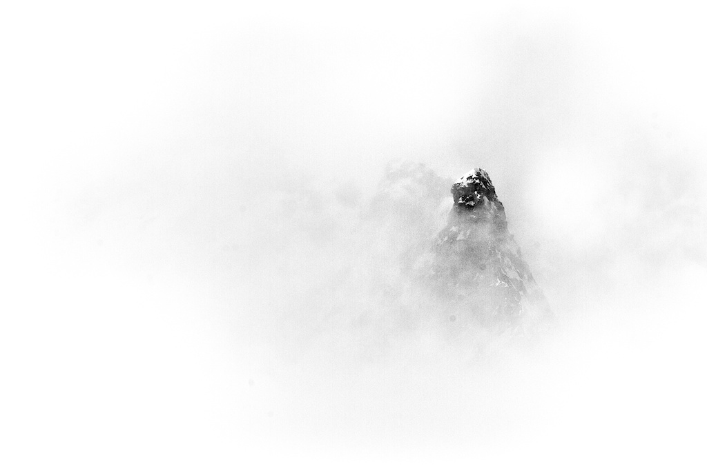 Summit behind the fog