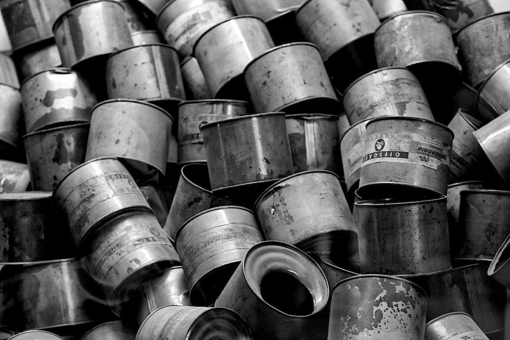 Zyklon B containers @Auschwitz-Birkenau