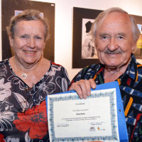 Mary also presented ex-Chairman, Harry Davies with a certificate for his long service to the Group.
