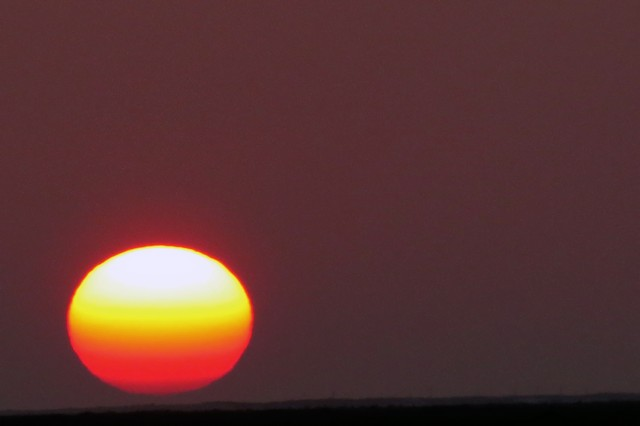 At sea sunset