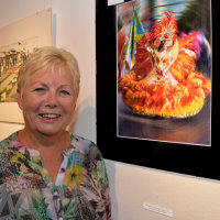 ChristineHill with her winning print, Loule Carnival Dancer 2016