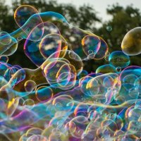 Flying Soap bubbles