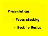 Focus stacking + Back2Basics (6 July 2017)