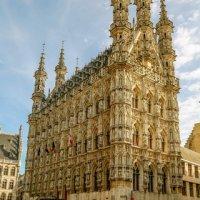 Flamboyant gothic townhall of Louvain Belgium