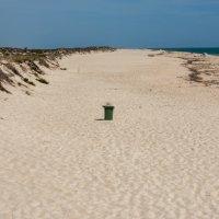 Plastic garbage free beach