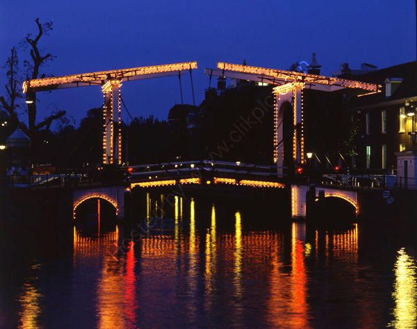 Netherlands: Amsterdam: Canal Bridge