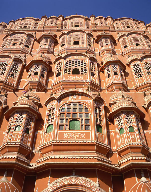 India: Jaipur: Hawa Mahal