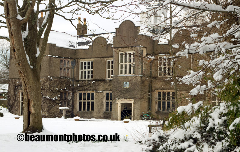Forde House in the Snow