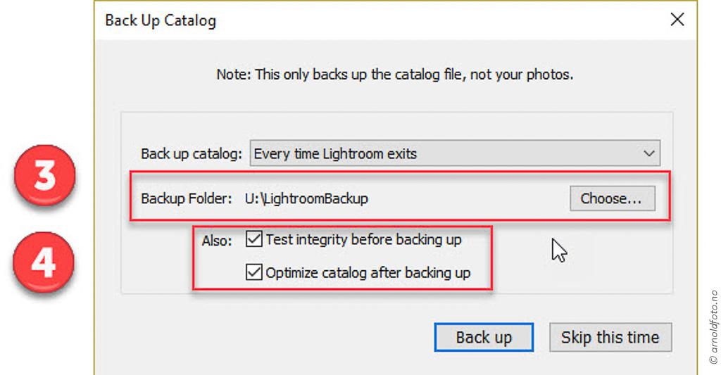 Catalog Backup