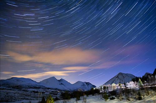 Sløra stjernehimmel