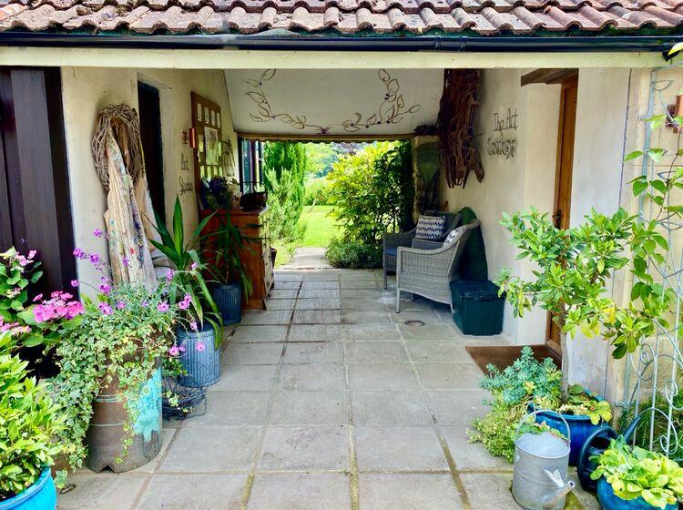 Entrances to Art Cottage and Art Studio