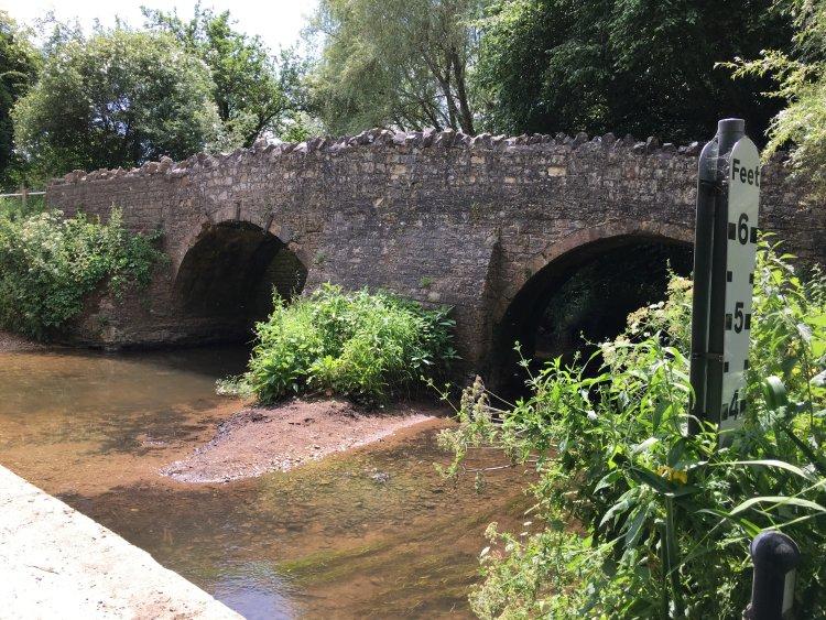 The Pack Horse Bridge over Wellow Brook