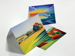 Pack of Ten mixed Straight edge greeting cards