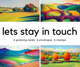 """""""Lets Stay in Touch"""" Lockdown greeting card pack."""