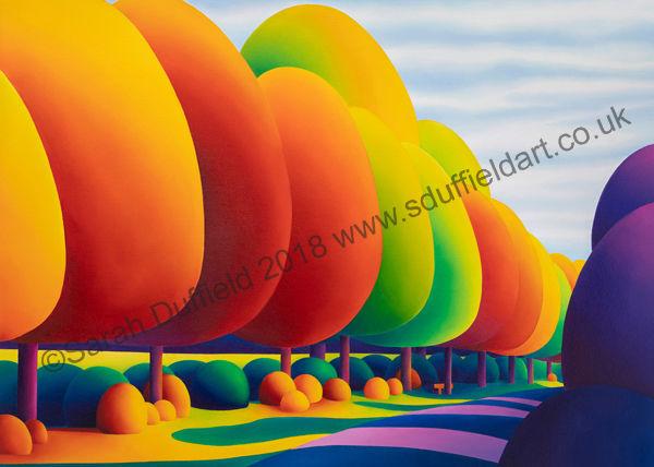 """Autumn Sentinels"" Greeting Card or Mini Print"