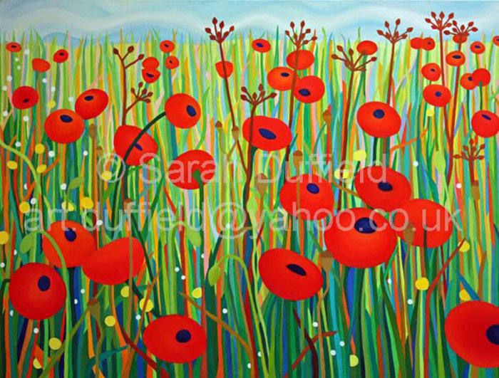 """Simply Poppies"" Greeting Card or Mini Print"