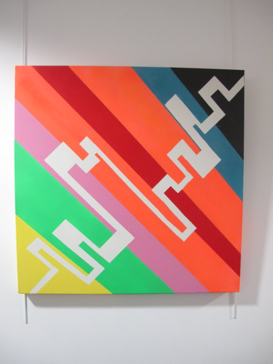 Data Streams:  acrylic on canvas  70 cm x 70 cm :  £245