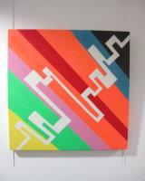 Data Streams:  acrylic on canvas  70 cm x 70 cm :  £245