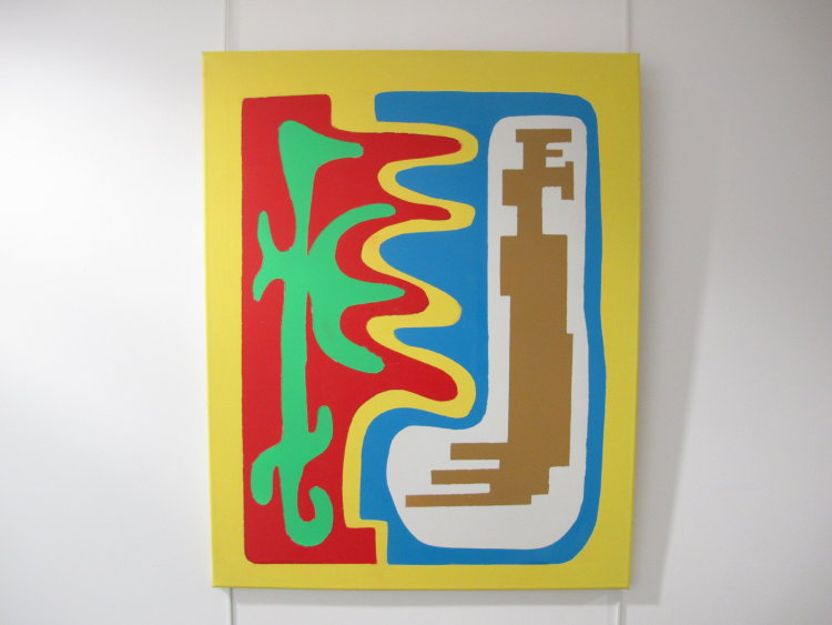 Entwining contours  :  acrylic   on canvas   :  60  cm x  70  cm  : £185